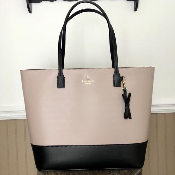 "kate spade Handbags - KATE SPADE Two Toned ""Tori"" Leather Tote 9a8d6b5d04"